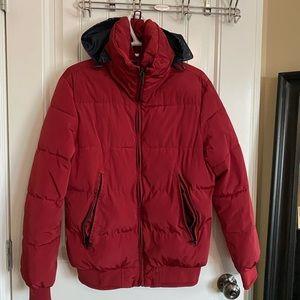 Zara Man Red Puffer Jacket